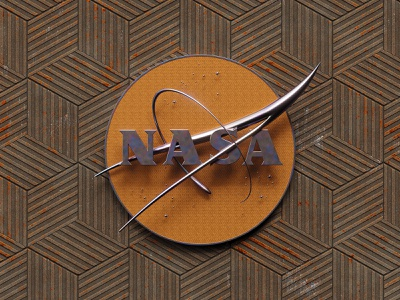 Nasa Logo cyberpunk retro nasa logo design branding detailed colorful simple concept blender 3d