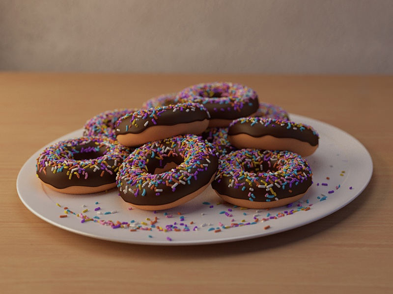Donuts blender 3d sprinkle sprinkles donuts donut 3d blender