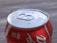 3D Coke can close up