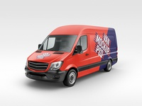 Free high-res van cover mock-up