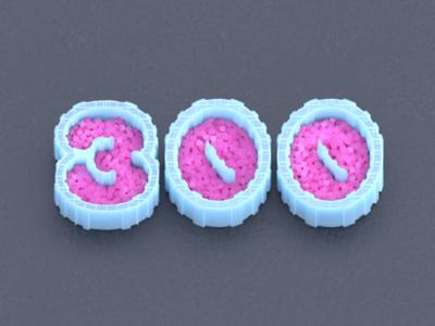 300 cubes colorful blender 3d followers 300
