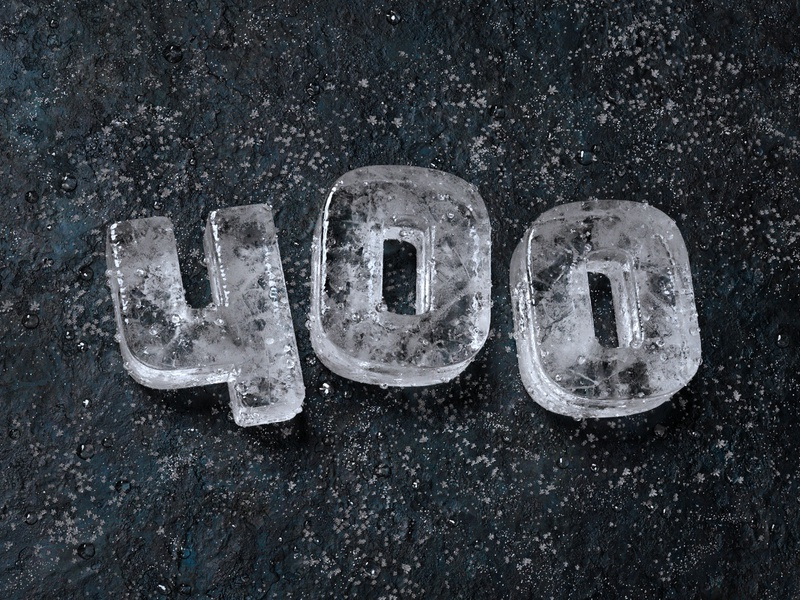 400 followers icecube ice illustration detailed concept blender 3d