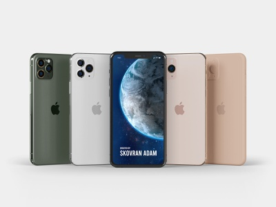 iPhone 11 Pro mock-up Master Pack photoshop mockup psd all colors clay gold black silver green mockup mock-up iphone 11 iphone blender 3d
