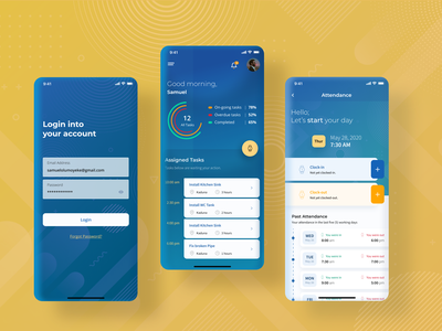 Task and Assignment Management App inspiration gradient blue dashboard uxbucket ui design uiux mobile app