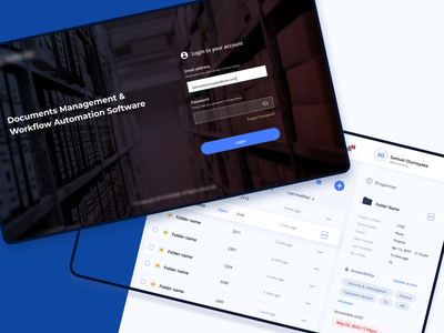 Document Management & Workflow Automation saas approval user interface interface design accessibility blue ui design uiux uxbucket figma workflow web login