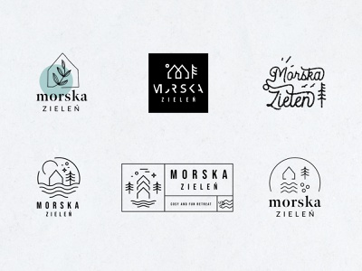 Retreat Cabin Logo freehand typography lettering script badge vacation trees water sea house barn tree nature wander travel cabin design branding logo