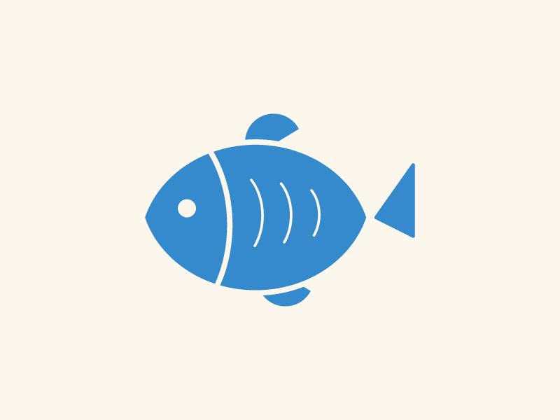 Fish restaurant animal fish seafood graphic design minimal illustration logomark branding logo