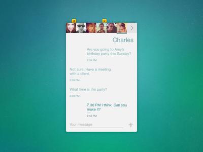 No-frills Chat App app ui design chat messages friends ios