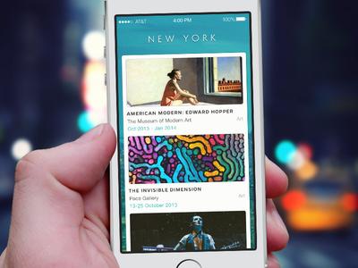 Explore your city city ios7 app ui design iphone events feeds recommend ny sketchapp sketch