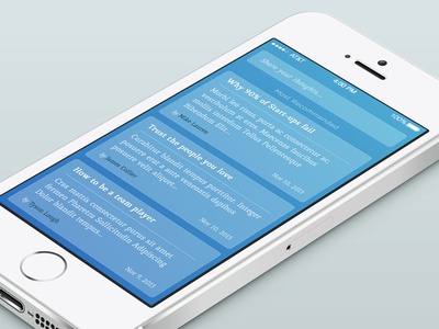 Share your thoughts ios7 app ui design iphone feeds read story