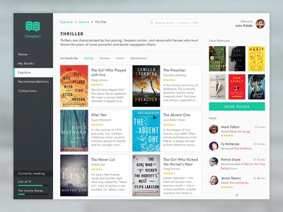 Chapters for book lovers app ui design minimal ios books osx feed browse reading social