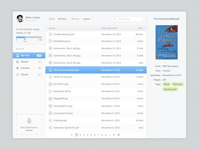 Skybox app ui mac osx minimal clean dropbox drive upload