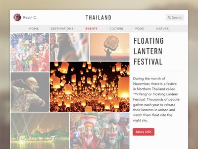 Discover Thailand thailand web design ui app clean minimal discover info grid ios