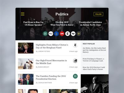 News Reader social feed rss ipad mobile ux ui app reader news