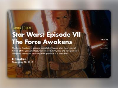 Movie Slide star wars ios film movie slide card ux ui