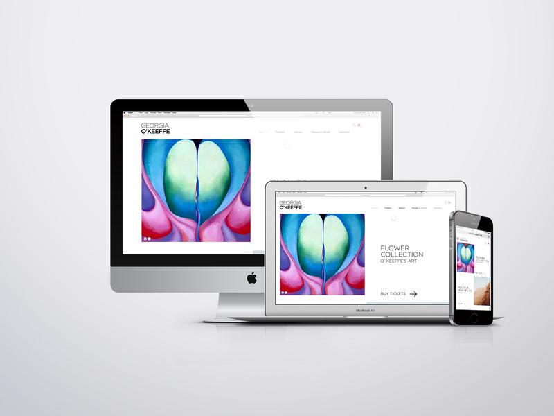 Georgia O'Keeffe Museum web amsterdam mobile design ui ux