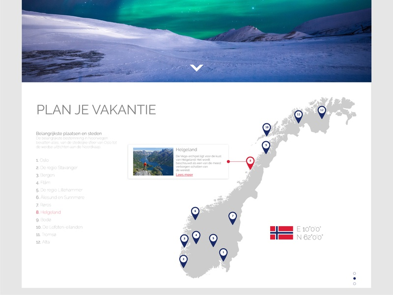 Web- Visit Norway web amsterdam ux ui design