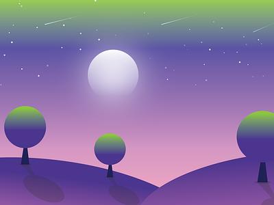 Bask in the night illustrator