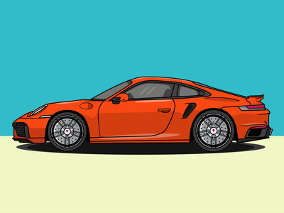 911 Turbo S illustrator