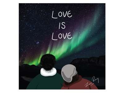 Pride starry night northern lights aurora borealis aurora lovers love rainbow pride 2020 pride photoshop digital art creative illustration