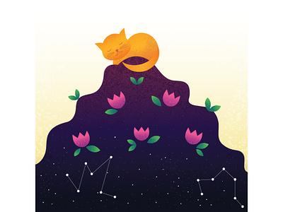 Plotting merchandise design creative cat illustration design vector illustration