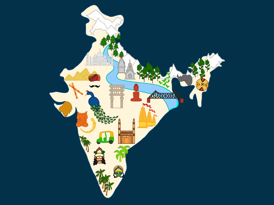 India : Going Places states in india indian culture india doodle illustration creative