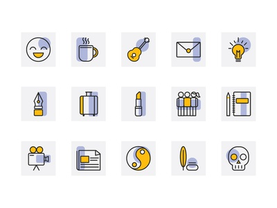 Icons for genres of writing line icons illustrator icon design iconography icon set icons