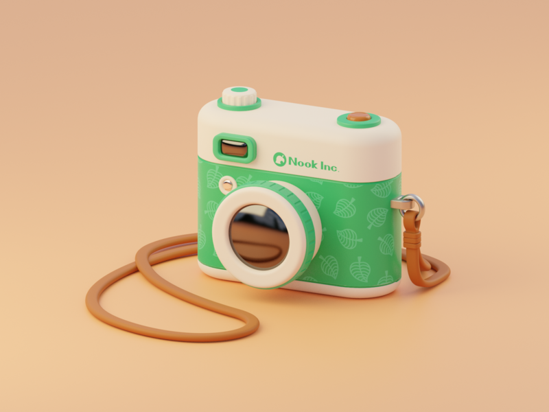 Nook Inc Camera b3d blender3d illustration 3d nintendo animal crossing