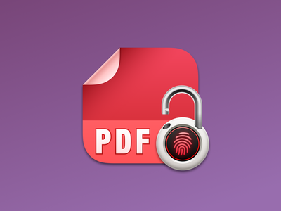 PDF Protector macOS app icon icon design app icon apple app icon