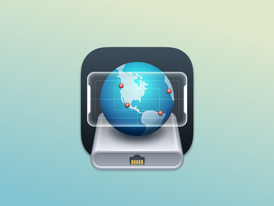 Network Radar macOS app icon big sur apple app icon icon design icon
