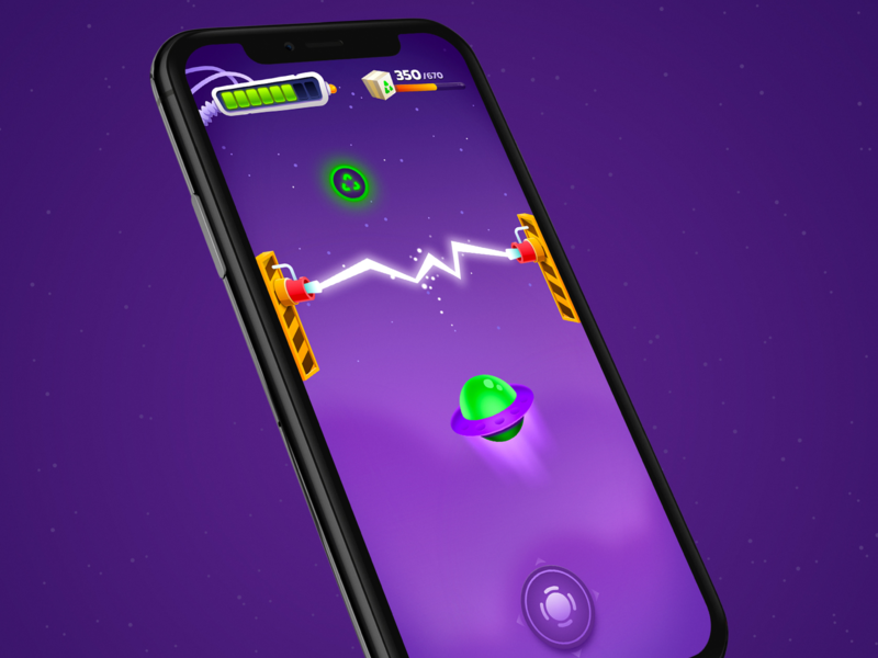 Space game UI cartton iphone mobile hud game ui space