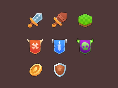Game icons games cartoon fantasy game icons