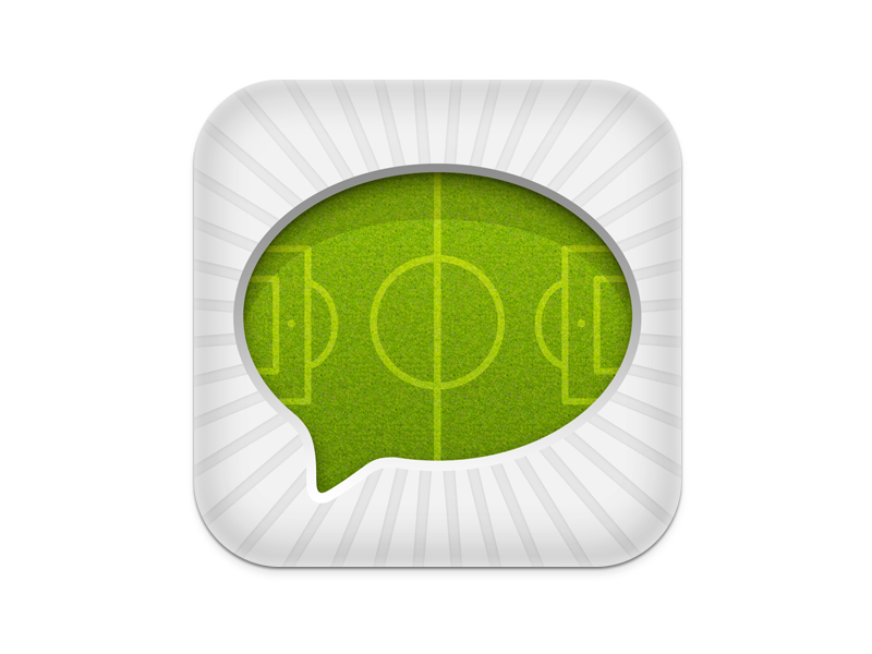 Soccer app icon soccer icon ios iphone chat