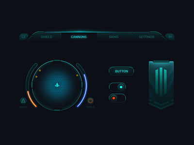 Mini Sci-fi UI kit game ui ui game design game