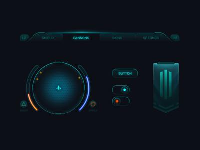 Mini Sci-fi UI kit