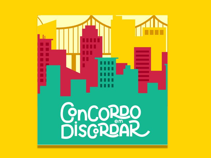 Concordo em Discordar Podcast | Visual Identity logotype podcast graphic design branding