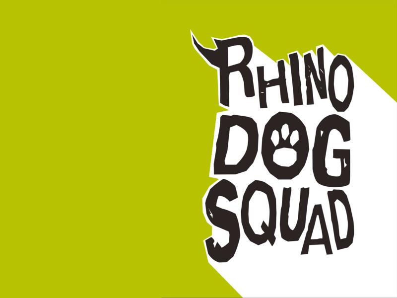 Rhino dogs squad Identity customtype bespoketype savetherhino identity branding