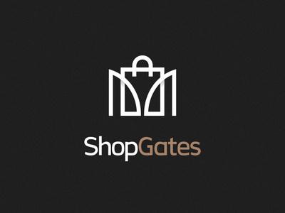 Shopgates logo branding identity branding design logo design branding adobe illustrator vector graphic design logo design logo