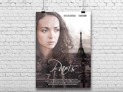 Paris - short film poster art movie print design print poster graphic design design
