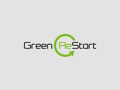 Greenrestart brand vector logo design logo identity branding branding adobe illustrator graphic design design
