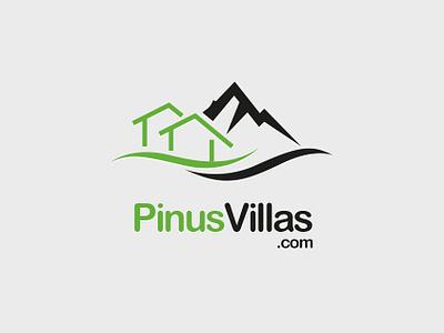 Pinus Villas brand vector logo design logo identity branding branding adobe illustrator graphic design design
