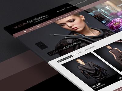 Mariela gemisheva fashion adobe photoshop web site web web design design