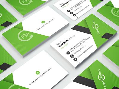 Green REstart - BC print design design brand corporate design graphic  design business card design business card