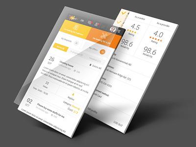 HandU app web design ux app design mobile app design mobile app user interface ui