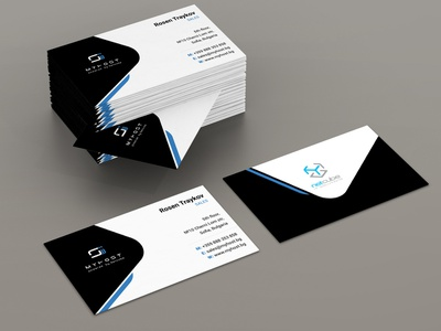 Business Card - MyHost graphic  design business card print design identity branding branding brand vector adobe illustrator graphic design design