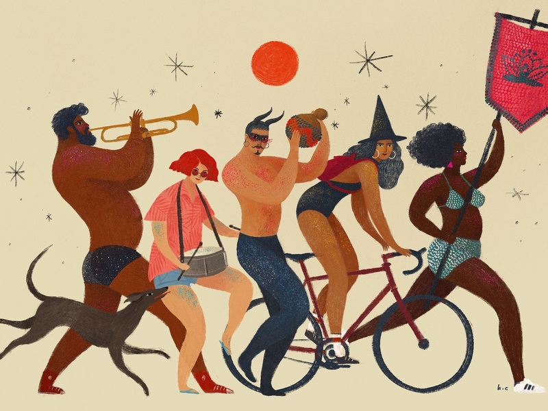 Street Carnival fun animation illustration lifestyle character dance party street culture dance music people brazil carnival