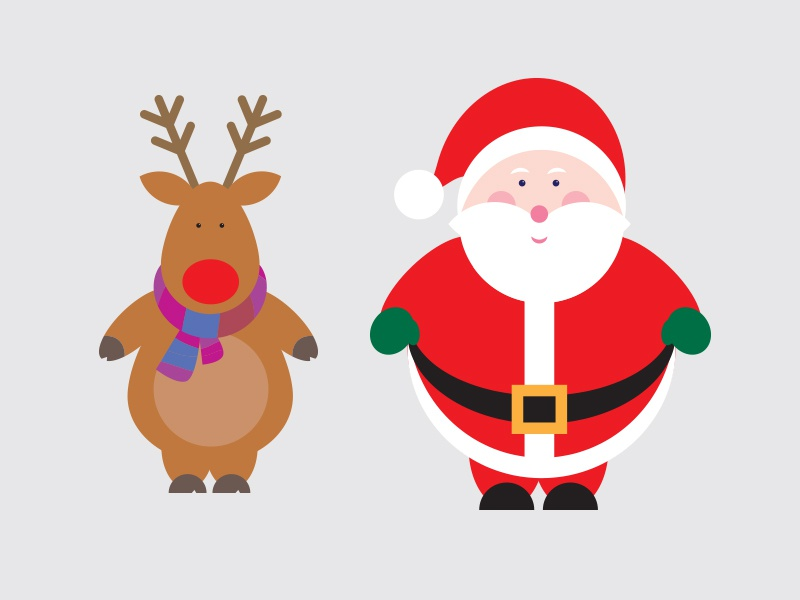 Christmas Vectors.Free Christmas Vectors By Evoluted On Dribbble