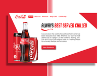 Coca Cola Landing Page Design