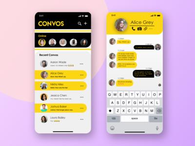 Convos - Messenger App Concept Design