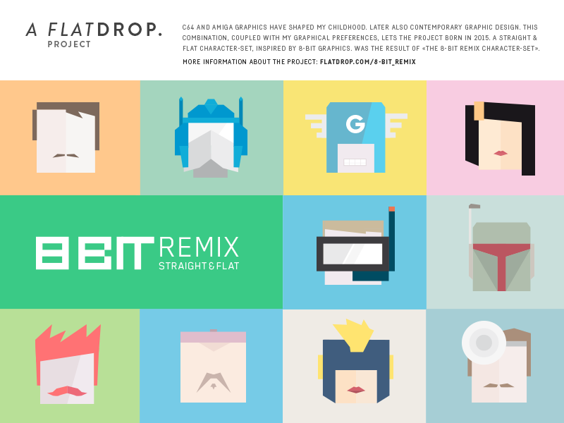 8bit Remix – character-Set free download free characters character flat graphic design freebies freebie flat design